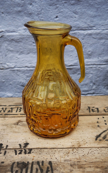 Beautiful 1960's vintage amber glass made in Italy