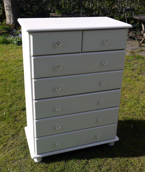 vintage chest of drawers in farrow and ball ammonite