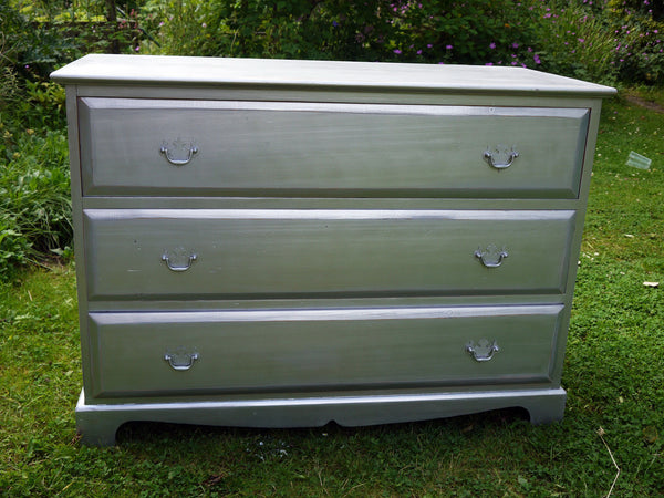 Custom Listing for Samantha hand painted dressing table in Miss Mustard Seed Milk Paint Arabesque and chest of drawers