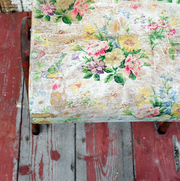 Vintage children's decoupaged school chair