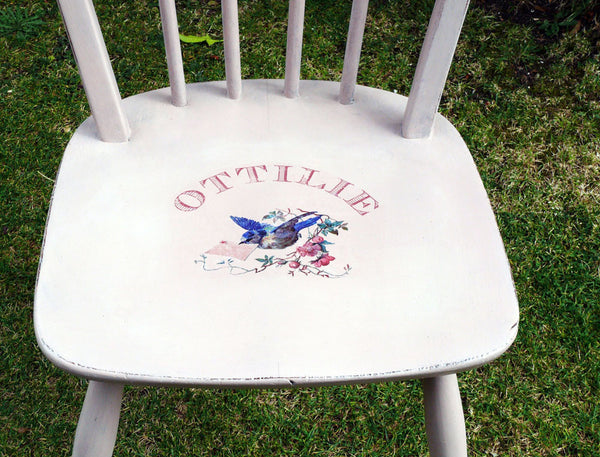 Custom Listing for Rebecca vintage personalised childs chair