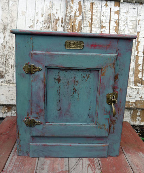 Custom listing for Lukshmi hand painted vintage wardrobe, bedside cabinet, and bookcase in Miss Mustard Seed Milk Paint