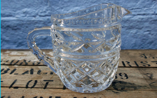 Vintage cut glass milk jug