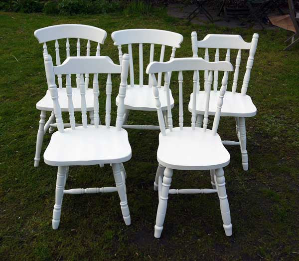 Custom Listing for Susan Hand painted vintage dining chairs