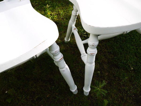 Custom Listing for Marcia 2 x shabby chic dining chairs in Fusion mineral paint White