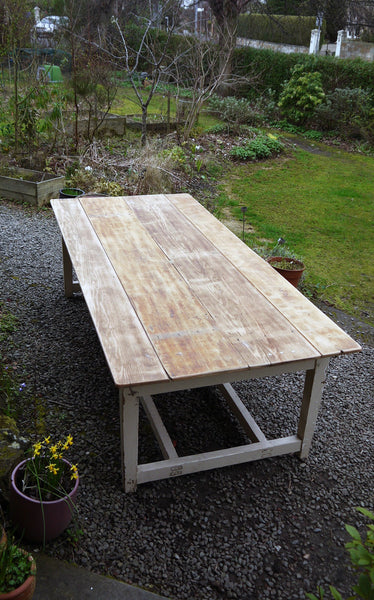 vintage farmhouse refectory dining table