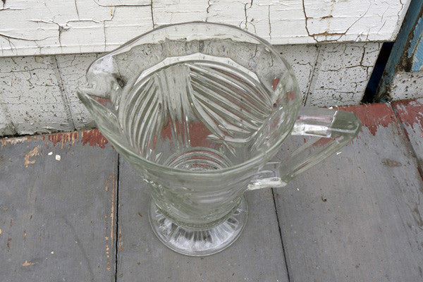 vintage 1950's glass jug pitcher from  Emily Rose Vintage