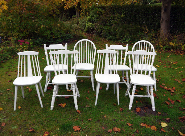 Custom listing for Emma 8 mismatch vintage dining chairs in Farrow and Ball