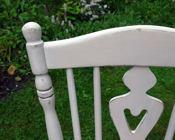 Custom Listing for Dmitri 4 hand painted mismatched vintage dining chairs