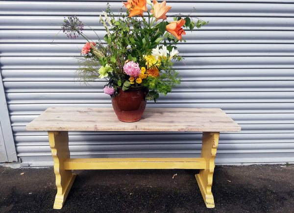 Vintage painted pine kitchen bench