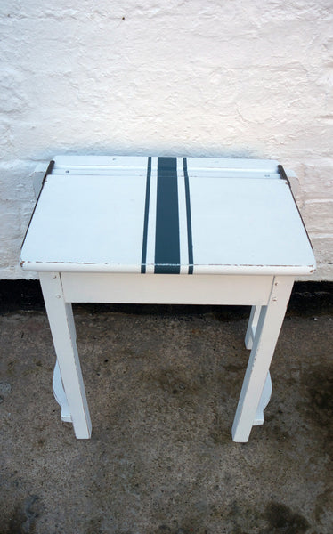 Hand painted vintage children's school desks, chairs or  sets with retro grainsack stripe