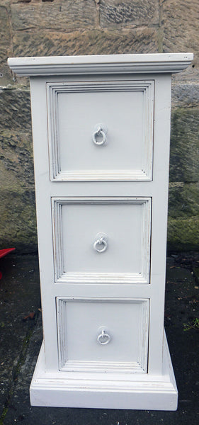 Custom Listing for Patricia Small hand painted tallboy chest of drawers in Fusion Mineral Paint Lamp White