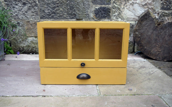 painted wall cabinet in Mustard Yellow