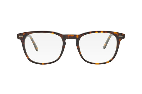 Tortoise brown/black wayfarer shape blue light blocking glasses made from acetate.