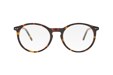Tortoise black/brown round lenses blue light blocking glasses.