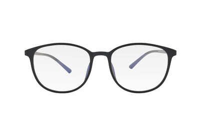 Black matte blue light blocking glasses made from TR90.