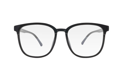 Black oversized blue light blocking glasses made from TR90