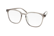 Clear grey oversized blue light blocking glasses made from TR90