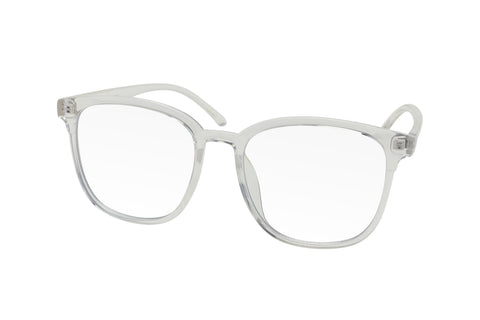 Clear oversized blue light blocking glasses made from TR90
