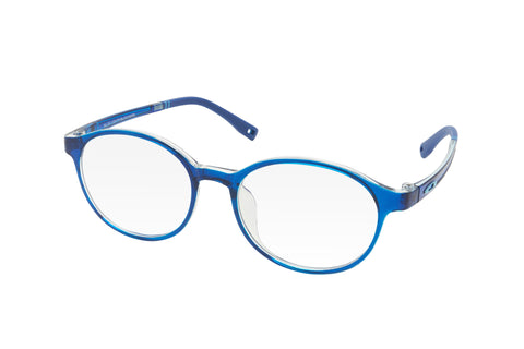 Blue round lenses blue light blocking glasses for kids.