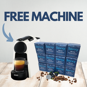 Free Nespresso Machine with 12 pack pods subscription