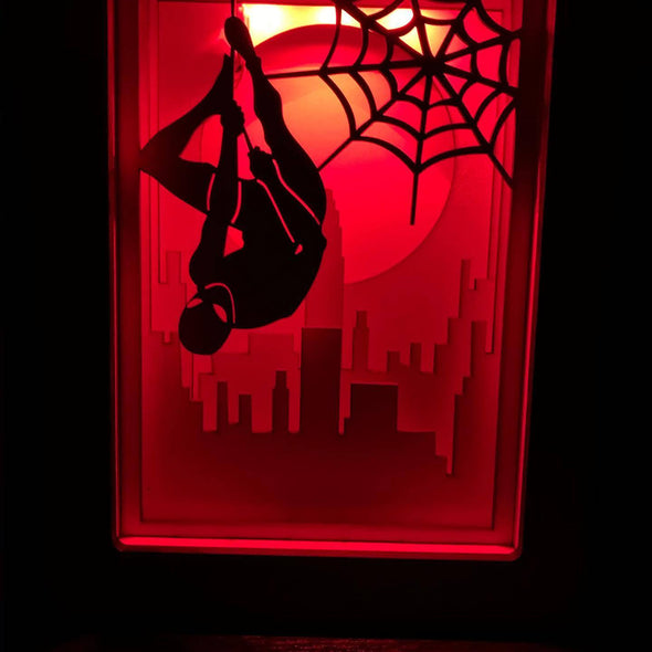 Spiderman shadow box - Tiny Memories Laser