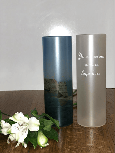 Personalised glass vase with photos/pictures - Tiny Memories Laser