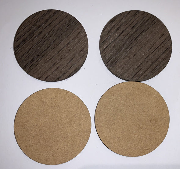 Blank wooden shapes(circle/rectangle/square) - Brown Melamine - MDF - Tiny Memories Laser