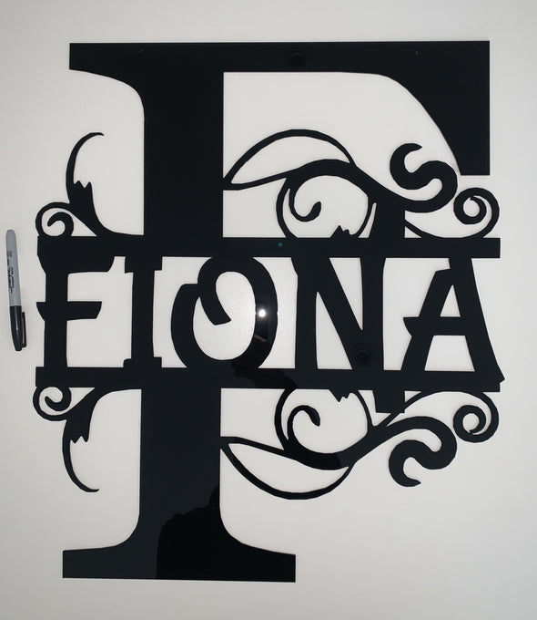 Custom name signs/back drops - Monogram - Tiny Memories Laser