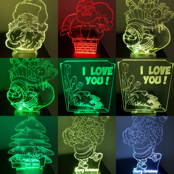 Acrylic LED lights multicoloured - Tiny Memories Laser