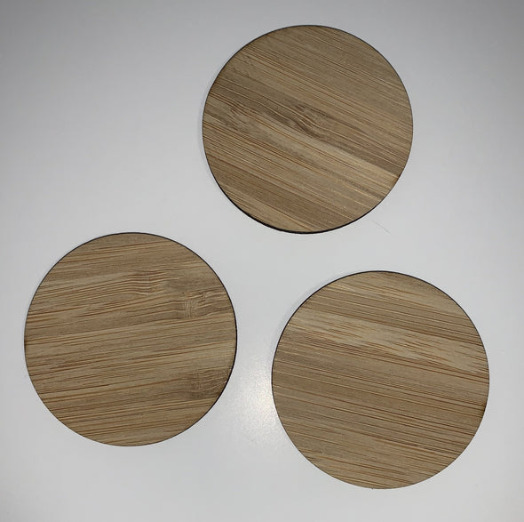 Blank wooden shapes(circle/rectangle/square) - Carbonised Bamboo plywood - Tiny Memories Laser