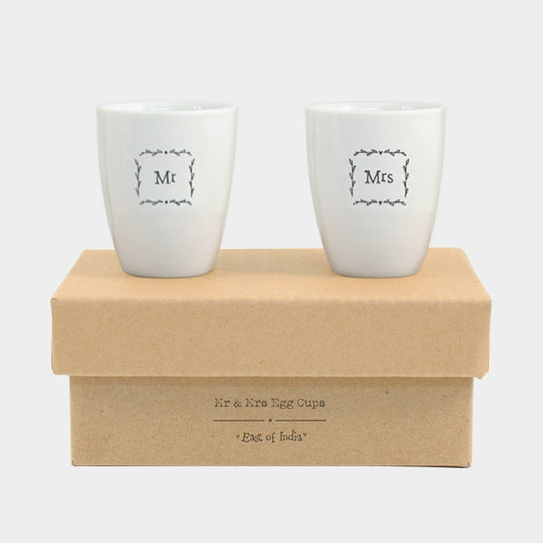 Mr & Mrs Egg Cup Set
