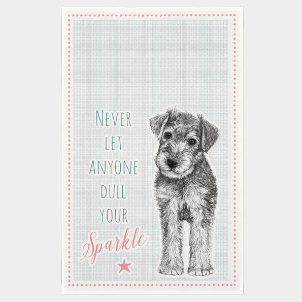 Never Let Anyone Dull Your Sparkle Tea Towel