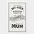 """Thank you Mum""  Tea Towel"