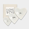 I Love You - 3 heart dishes