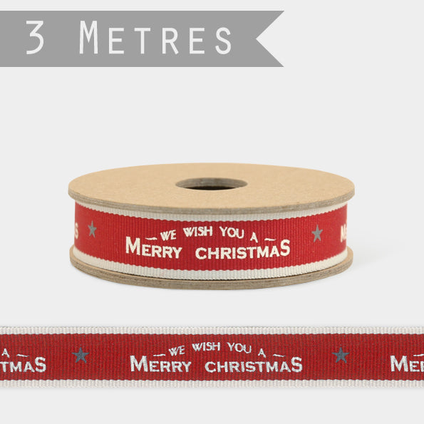 3 metre Christmas ribbon