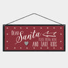 Santa Please Bring Wine sign