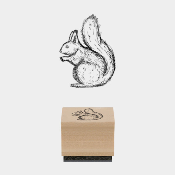 Squirrel Christmas Stamp