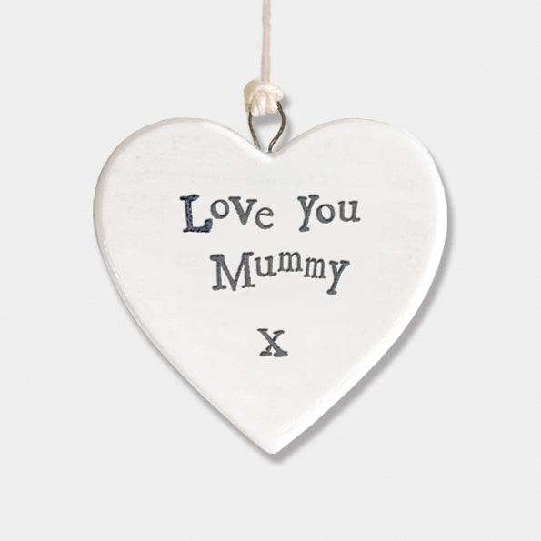 """Love you mummy"" porcelain heart"