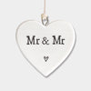 """Mr & Mr"" porcelain heart"