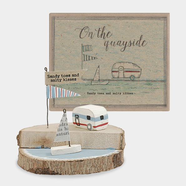 """Sandy toes and salty kisses"" wooden scene"