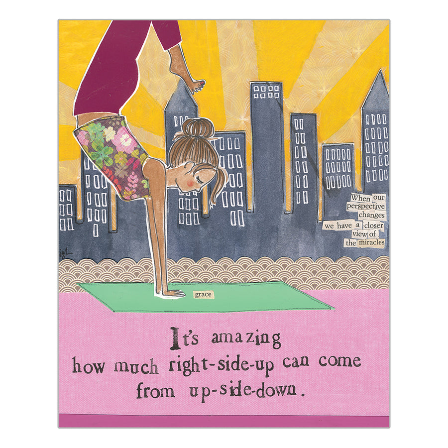 """Yoga Girl Right Side Up"" card"