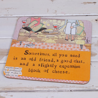 """Food with Friends"" table mats"