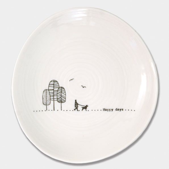 """Happy Days"" plate"