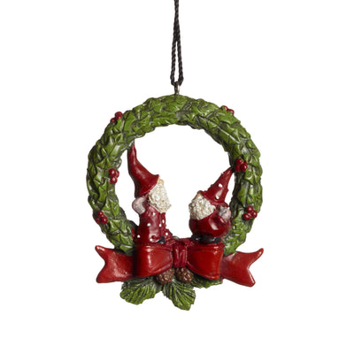 Hanging Bjorn and Benny ornament