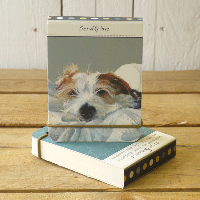 Scruffy Love flip notebook