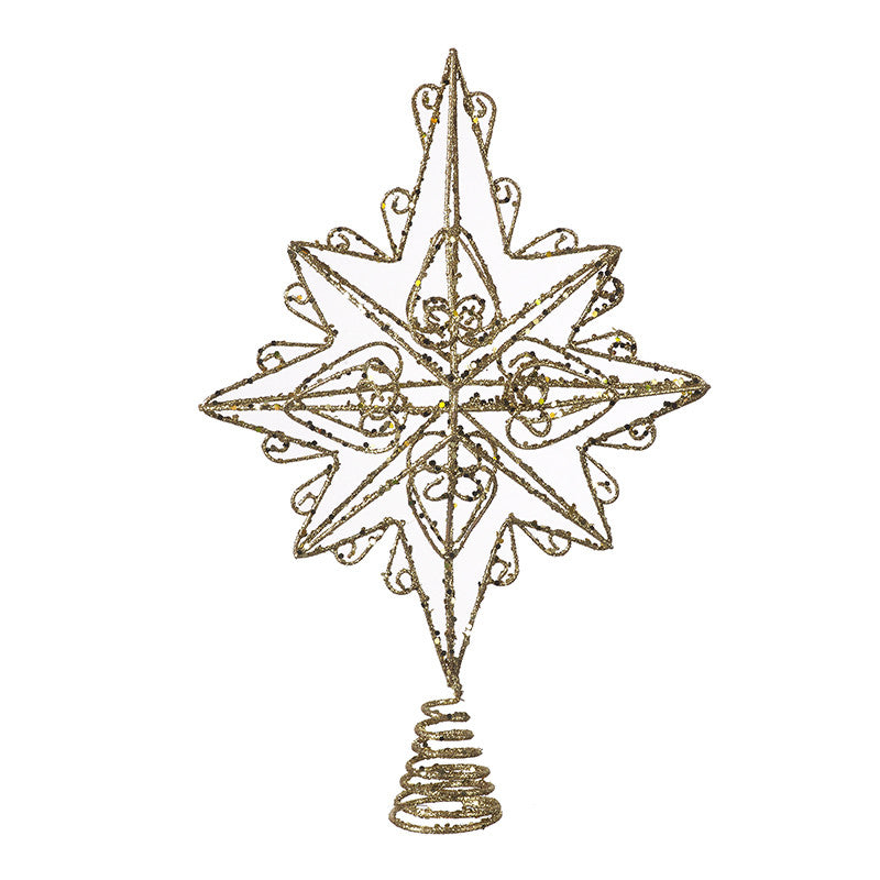 Glitter Gold Star Tree Topper