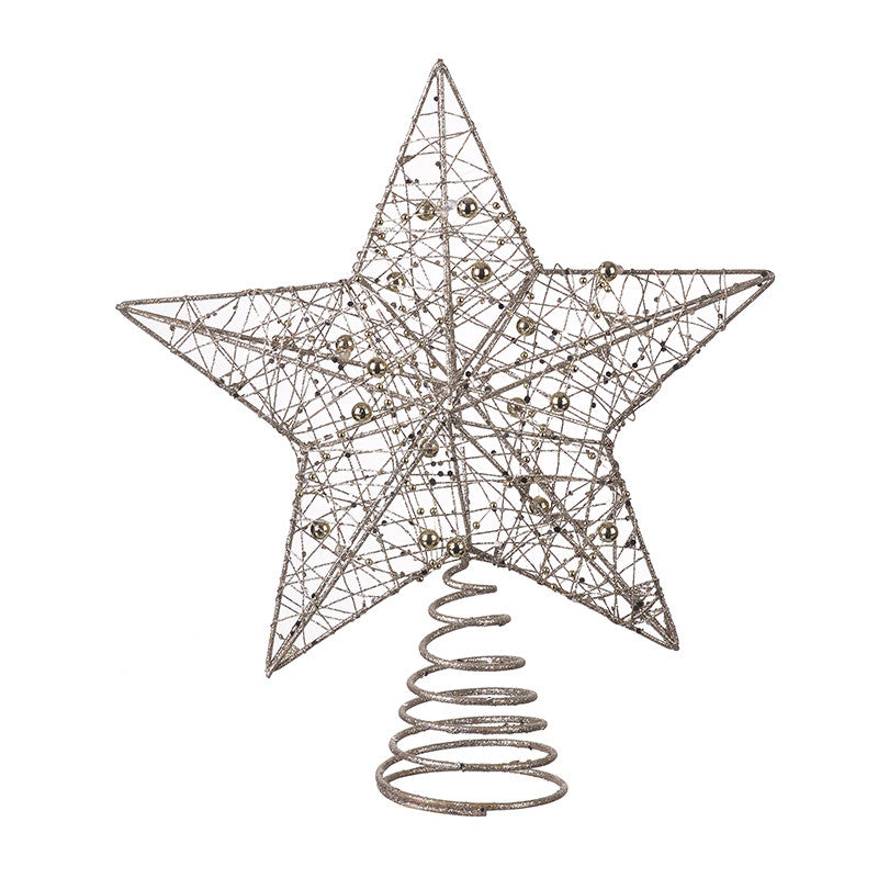 Champagne Gold Star Tree Topper