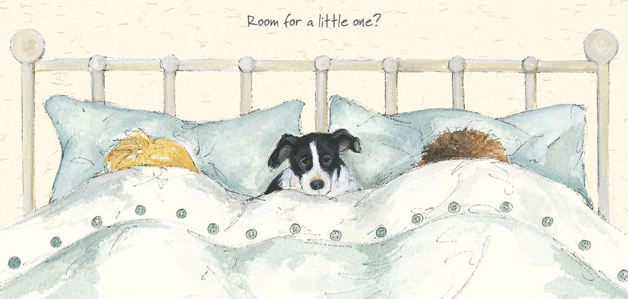 """Room for A Little One""  scruffy mutts greeting card"
