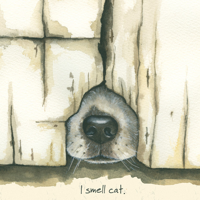"""I Smell Cat"" greeting card"